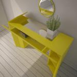 желт стол