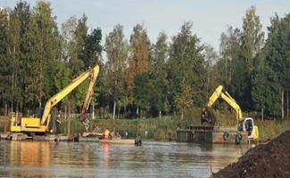 ООО «ЛЕНГИДРОТЕХ» осуществит дноочистные работы пруда в поселке Металлострой